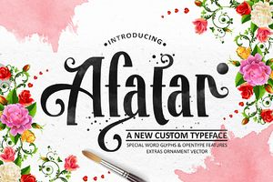 AFATAR typeface, new free font by COB