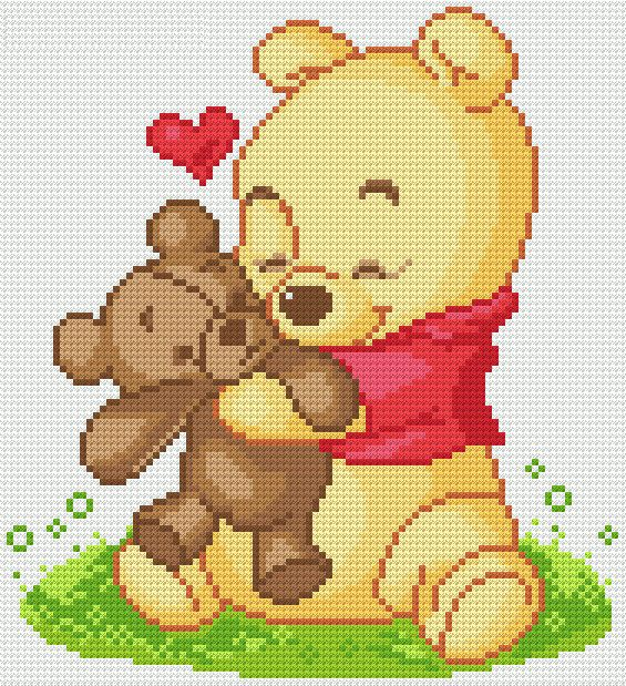 手机壳定制jordan commercials Cross Stitch Pattern TEDDY BEAR