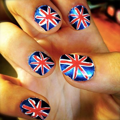 British Flag Nail Art Designs  #britishflag #naildesigns #nailartdesigns #nails #uk #london #londoner