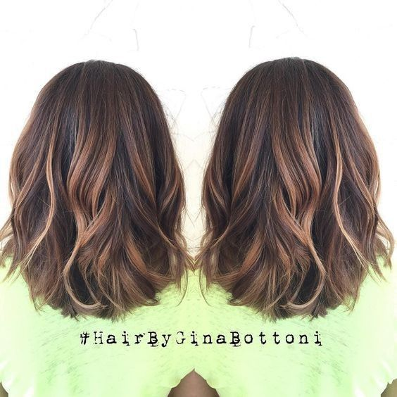 Pretty, Medium Hairstyle Ideas 2017 - Balayage, Rounded Lob Hair Styles