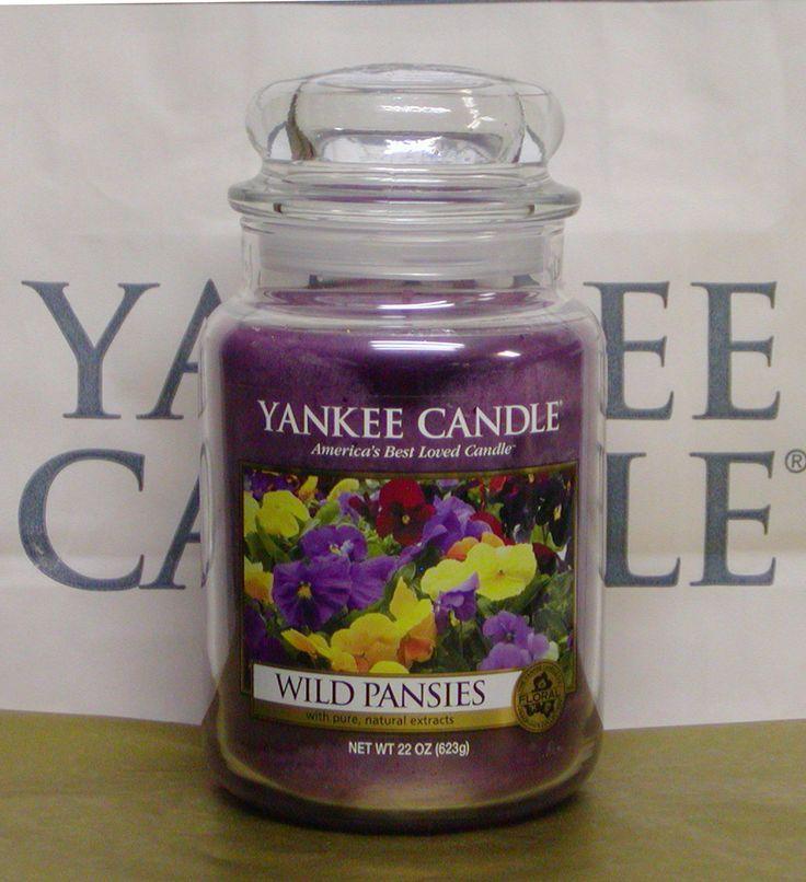Yankee Candle Wild Pansies. So cute with the purple shade. #YankeeCandle #MyRelaxingRituals