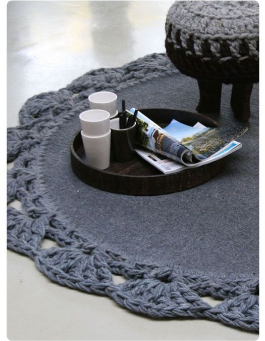 do like this! maybe re-purpose an wool army blanket?