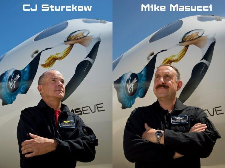 Twitter / virgingalactic: Welcome to our two new SpaceShipTwo pilots, CJ (4x @Stephanie Anderson shuttle astronaut) and Sooch (U-2 pilot and more)