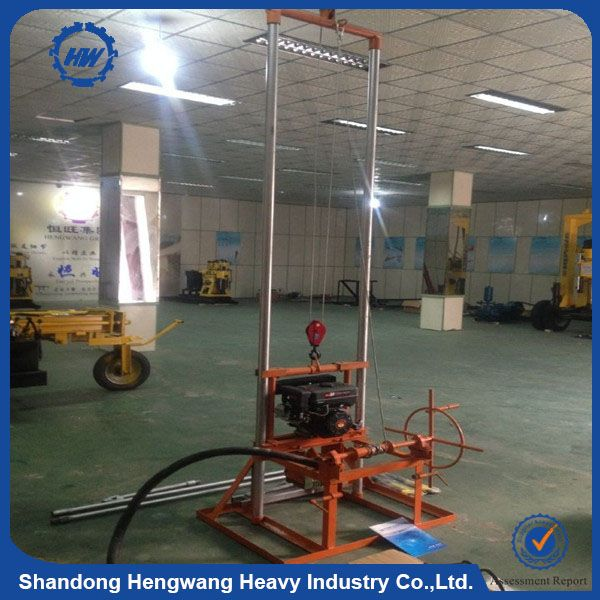 Look what I found Via Alibaba.com App: - 100m portable small water well drilling machine price with mud pump export to Africa