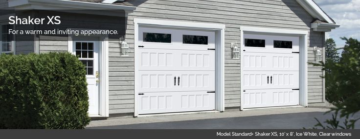 For a carriage look, the NEW Shaker XS panel designs from Garage Garage Doors delivers!