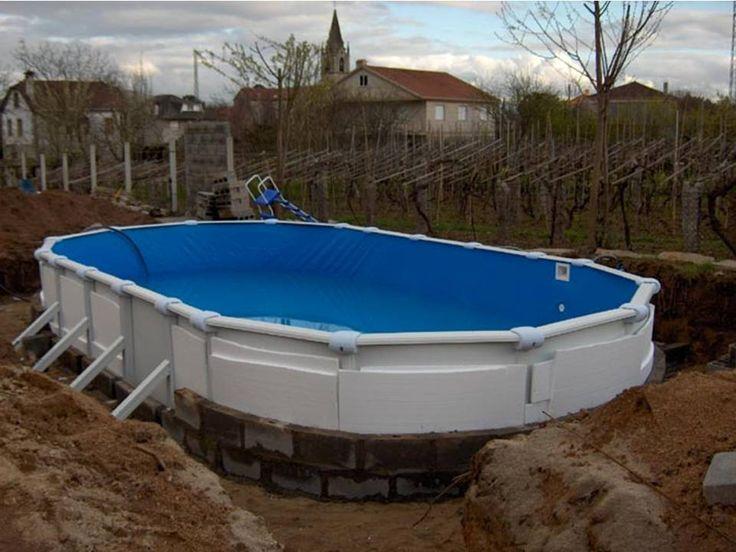 Como enterrar una piscina desmontable Piscinas, Piscinas