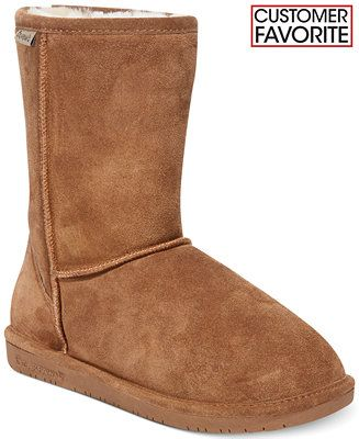 Size9 // Tan// BEARPAW Emma Short Cold Weather Boots - Boots - Shoes - Macy's