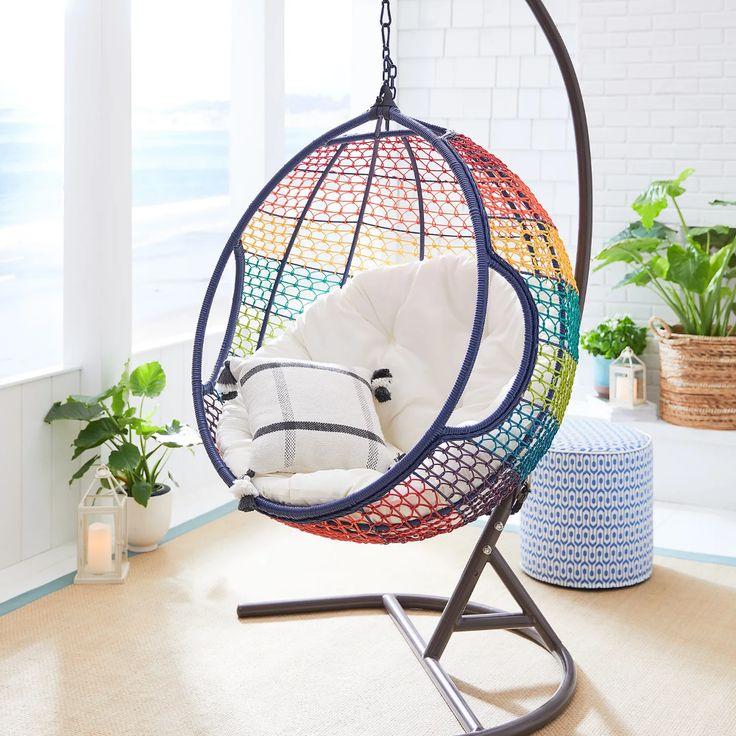 Swingasan® Rainbow Ombre Hanging Chair | Hanging chair ...