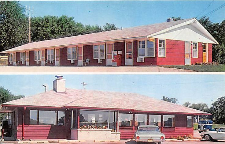 Edgerton WI Advertising Postcard Dairy Bar Restaurant & Towne Edge