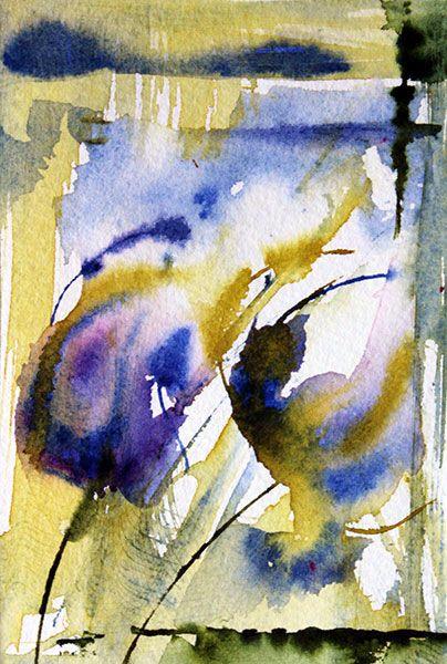N° 112 - Painting,  8x12 cm ©2013 by Véronique Piaser-Moyen -              aquarelle, fleurs, fleur, bouquet, bouquets, , peinture, art contemporain, art, contemporaine, pi