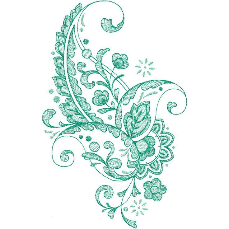 Emerald Paisley 9 #21009-09
