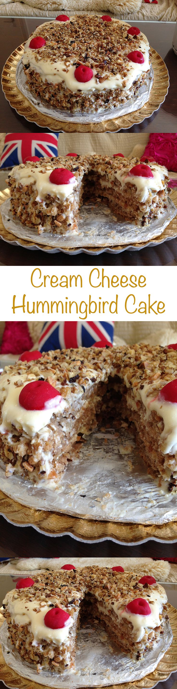 Hummingbird Cake Recipe with Cream Cheese Frosting and Walnuts!