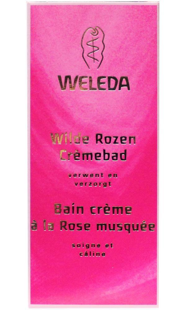 Weleda Wilde Rozen Cr�mebad 100 ml - Als je in een Wilde Rozen Cr�mebad stapt, kun je gerieflijk baden en wordt er tegelijkertijd hard gewerkt om je huid een ideale verzorging te geven. Het romige Wilde Rozen Cr�mebad werkt rustgevend en opbouwend voor lichaam en geest. En de rozengeur doet je wegdromen.