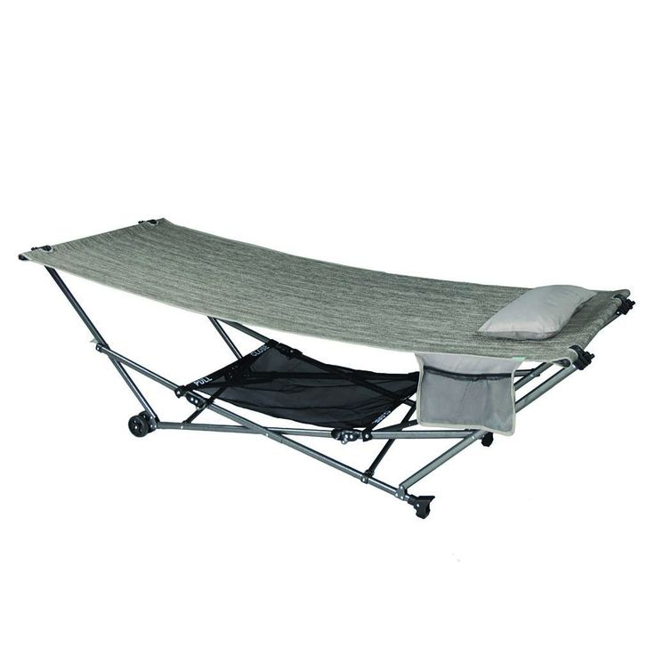STOW-EZ Portable Hammock + Stand with Canopy: Platinum: Bliss Hammocks
