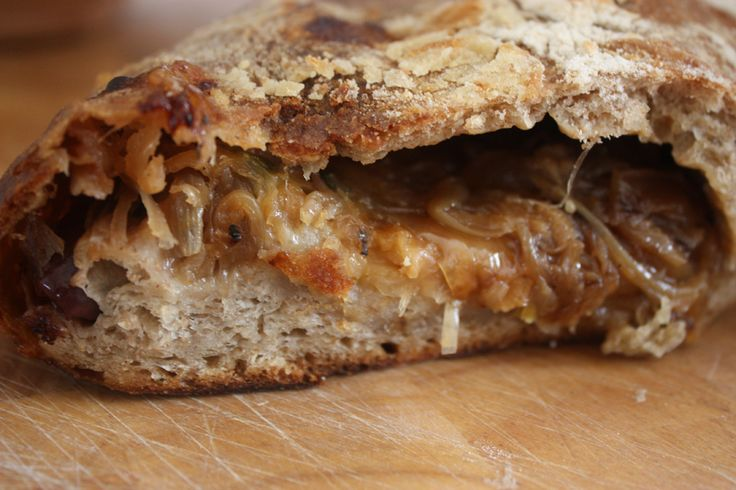 Caramelized Onion+greens Tartine Recipe — Dishmaps