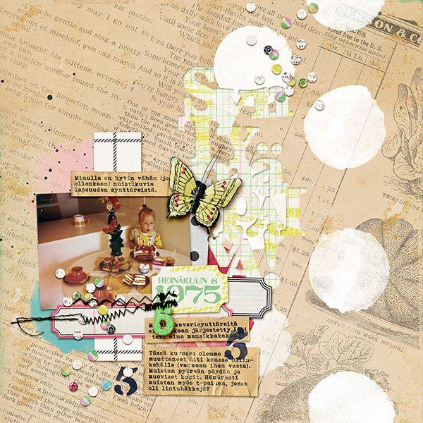 Digi Dare #389 Allison Pennington: Make A Wish Papers + Alphabets, Storytelling, Careless & Painted Polka Dots, Allison Pennington & Jenn Barrette: Social Butterfly; fonts: Bohemian Typewriter, Stamp Act