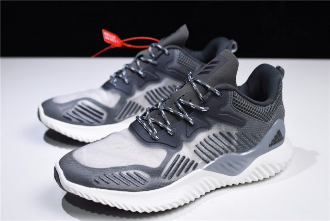 0bfa559ef Adidas AlphaBounce Beyond Grey White Sneakers Free Shipping – Sole Adidas