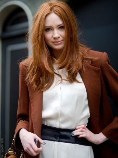 Exquisite Long Straight Capless Copper Wigs 18 Inch,Celebrity Wigs