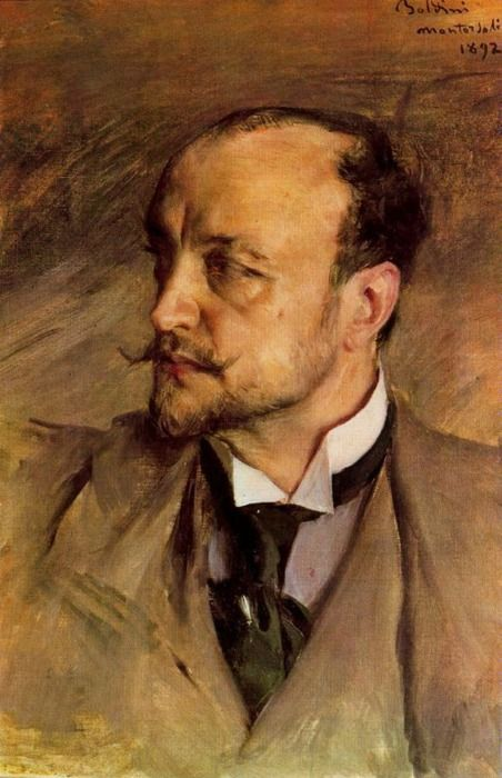 """Giovanni Boldini (1842–1931): Self Portrait (1893) Giovanni Boldini was an Italian genre and portrait painter. According to a 1933 article in Time magazine, he was known as the """"Master of Swish"""" because of his flowing style of painting. Wikipedia"""