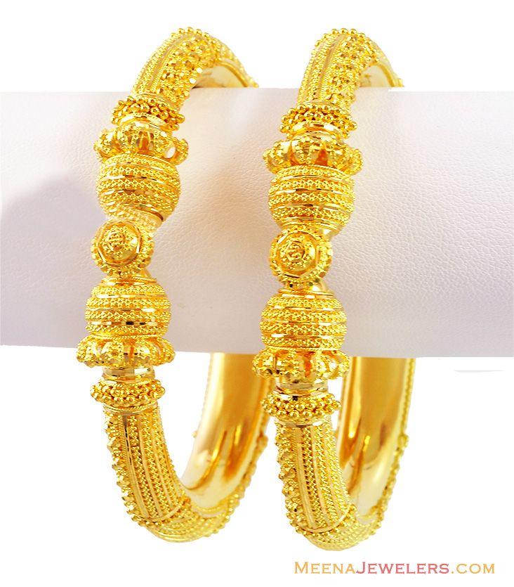 22k Gold Filigree Kada