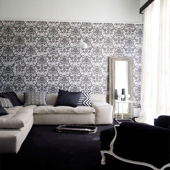Die besten 25+ Damast muster Ideen auf Pinterest Damast-tapete - muster tapete wohnzimmer