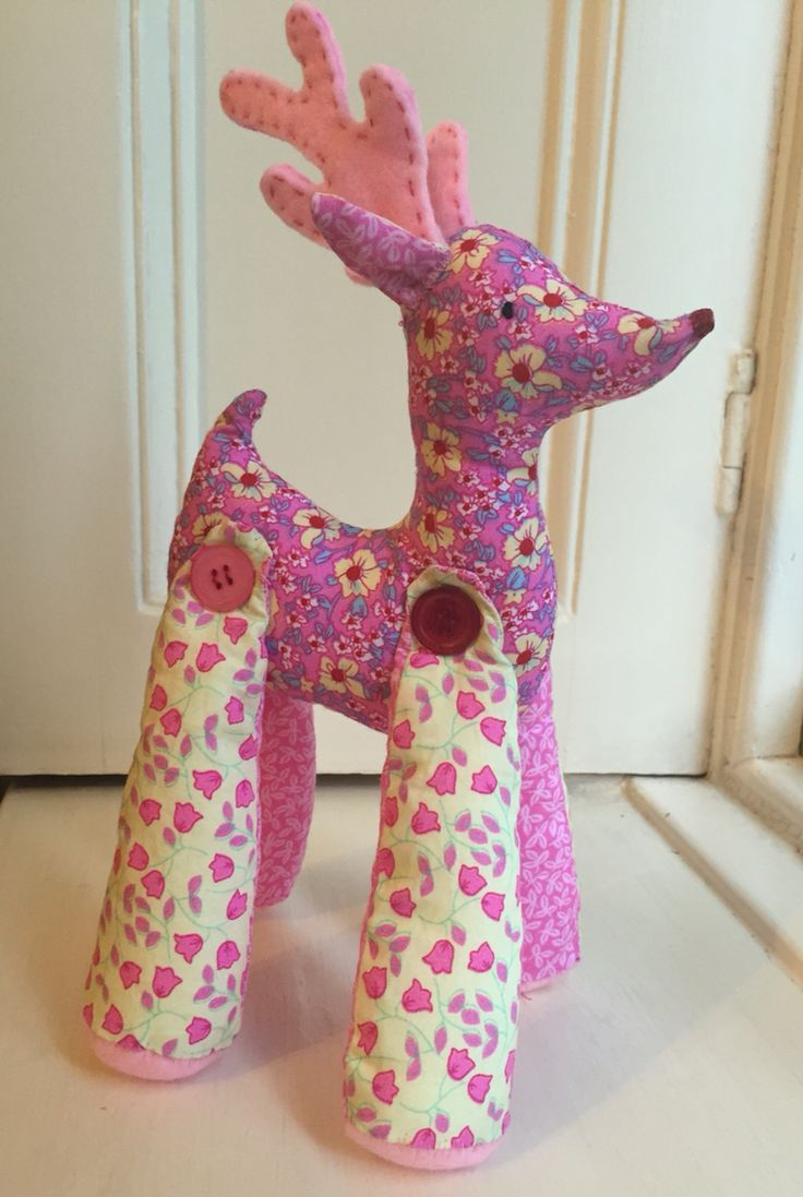 Little fabric reindeer