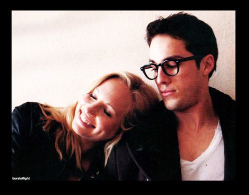 sooo cute: Michael Trevino, The Vampires Diaries, Vampires Diariess, Candice Accola, Vampires Diaries3, Vampire Diariesorigin, Things Vampires, Tv Couple, Blasphemi Peoplebeauti