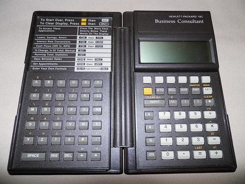 HP Hewlett-Packard 18C Business Consultant LCD Calculator, Circa 1986.