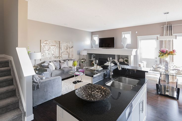 Love the colour combination with the kitchen and the great room.