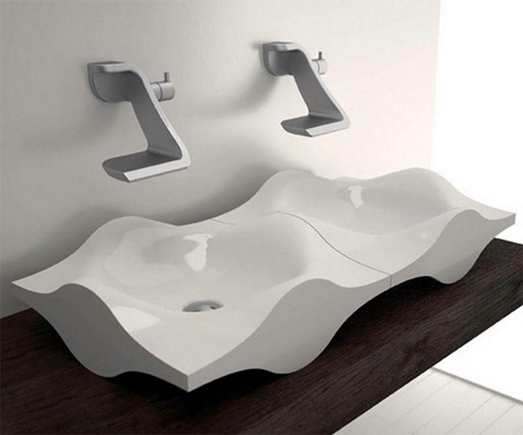 Bathroom Basin Double Wave