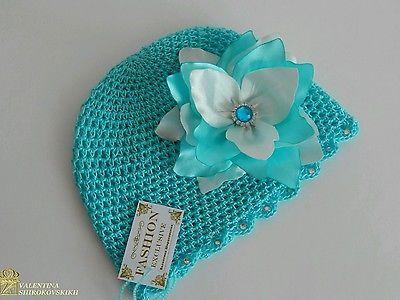 крючком шляпа для малыша girl.turquoise шляпа. ручной работы