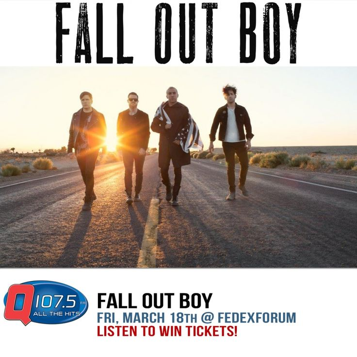 FALL OUT BOY with AWOLNATION March 18 @ FedExForum!! Tix On Sale Fri Oct 16th at 10am http://TICKETMASTER.COM