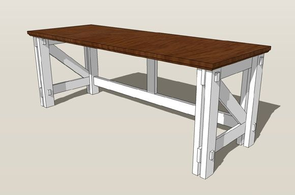 Use these computer desk plans to make a modern desk for your office.