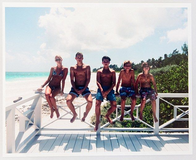 This photo of my children [from left, Olympia, 20, Tino, 18, Achi, 16, Odysseas, 12, and Aristedes, eight] was taken last Easter in the Bahamas. Life is full on with five, but so much fun. They've taught me to be patient, kind and how to turn a negative into a positive.