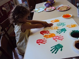 Handprints: Helping Hands Craft Addition from the Good Samaritan Lesson