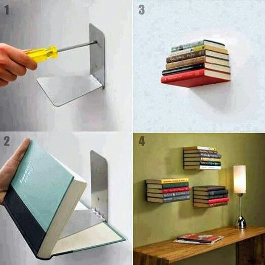 This is a pretty neat idea. | Bookshelves diy, Floating ...