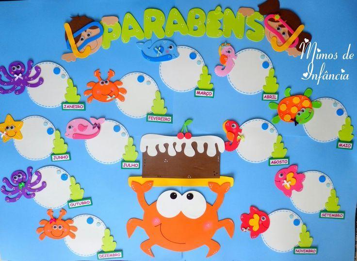 Resultado de imagem para quadros de aniversário para pré-escolar