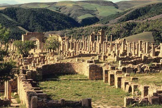 Roman ruins in Tipasa, Algeria - UNESCO World Heritage Site - Cultural Site