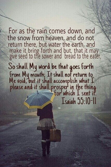 faithprayers:  God's word will accomplish His purpose.