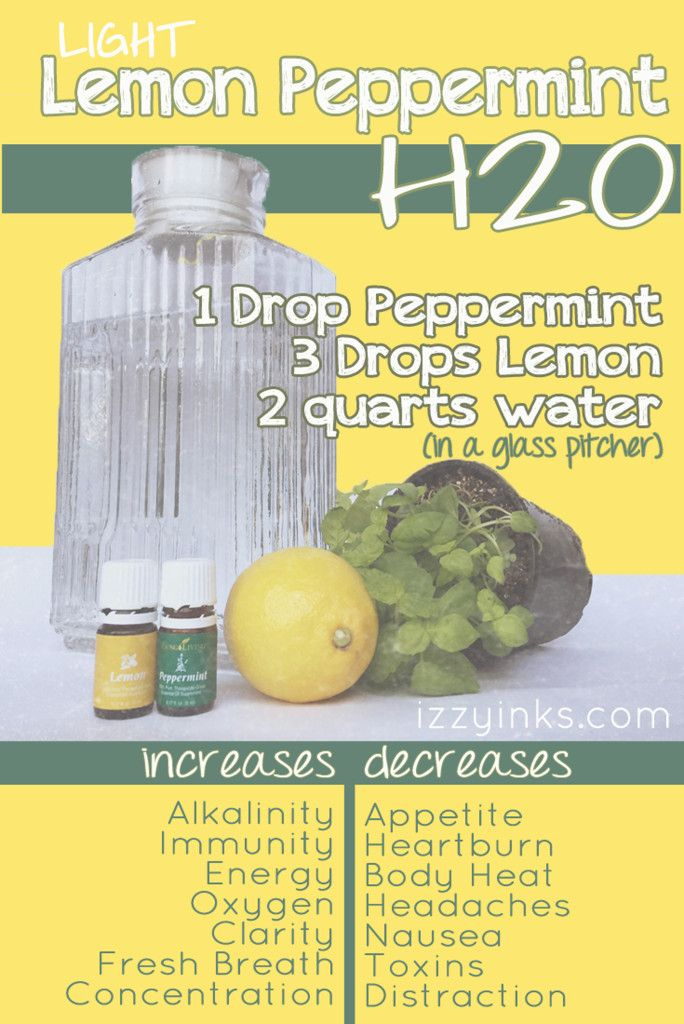 Boost the flavor and your energy with Light Lemon Peppermint H2O