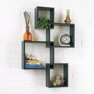 4 pc interlocking cube wall shelf set kohls 24 99 home wall rh pinterest com cube wall decor