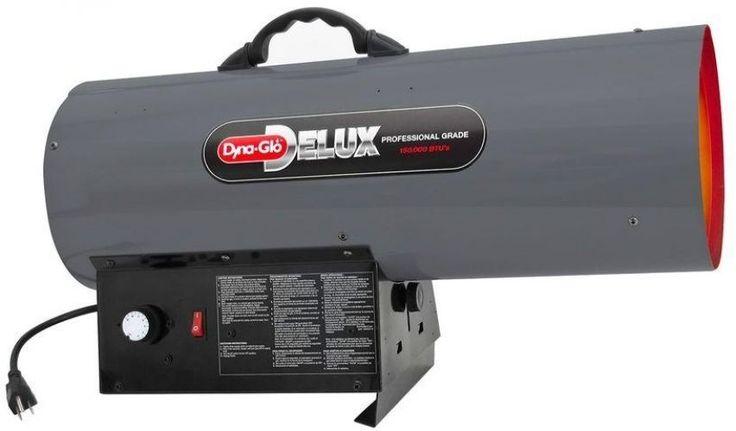 100k-150k BTU Natural Gas Forced Air Garage Shop Torpedo Portable Space Heater #DynaGloDelux