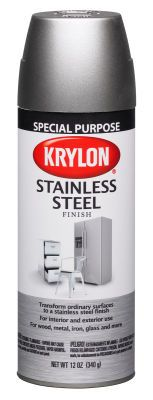 I saw this at Michael's and thought of you, Mom. You wanted a stainless steel fridge...they claim you can paint your fridge with it!