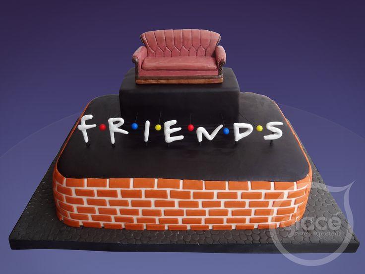 Torta De Cumplea 241 Os Inspirado En La Serie Friends