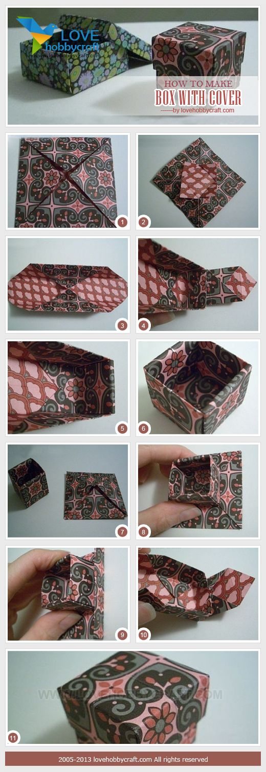 how to make box with cover