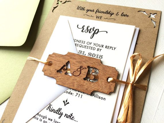 Image result for lucite and wood wedding invitation