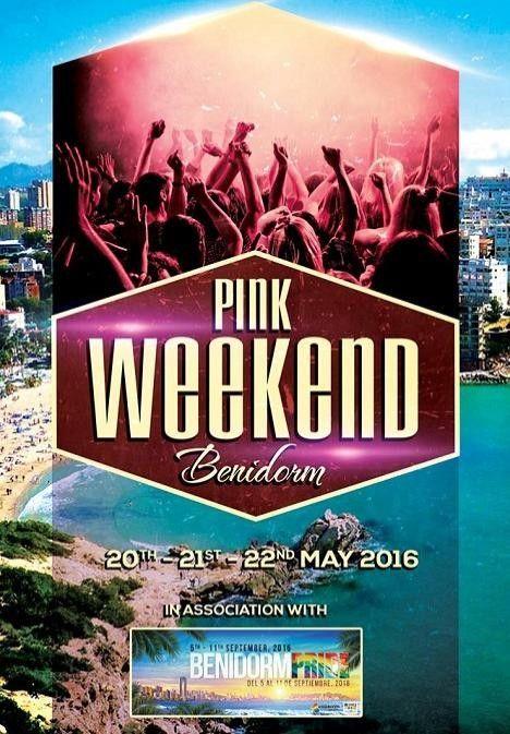 #Benidorm acoge este fin de semana el #pinkweekend , anticipo del #Pride.   Pink Week end in Benidorm! #nosgustastu #PrideBenidorm #CostaBlanca #PrideCostaBlanca #InstaPride #GayBenidorm #NosgustasTu #PinkWeekendBenidorm