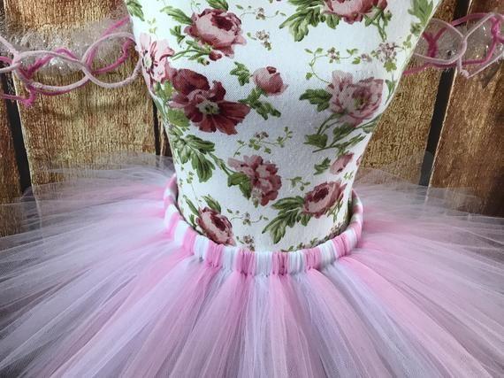 pink and white princess tutu set