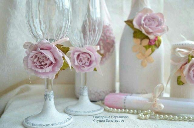 Свадебные аксессуары в стиле Шебби шик.