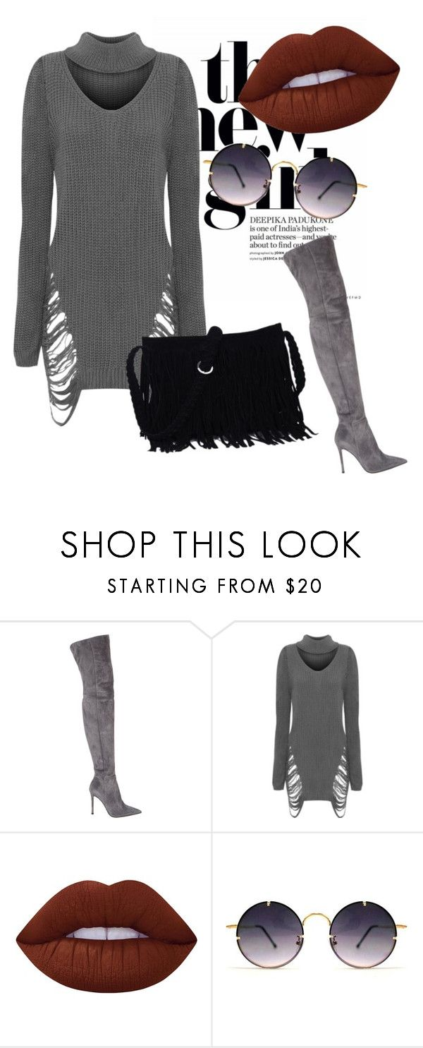 """""""outfit#101"""" by alifia-fae on Polyvore featuring Gianvito Rossi, WearAll, Lime Crime and Spitfire"""